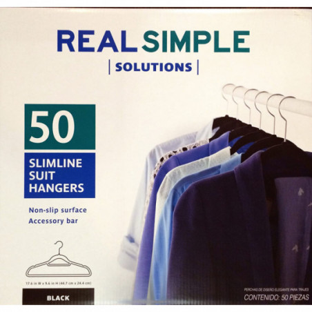 KEPLIN Hangers Perchas 50 Negro